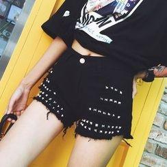千色衣站 - 铆钉短裤