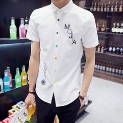 ZZP HOMME - Lettering Short-Sleeve Shirt