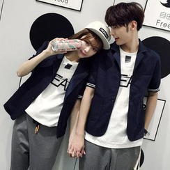 Evolu Fashion - Short Sleeve Couple Matching Blazer