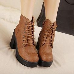 Mancienne - Platform High-Heel Ankle Boots