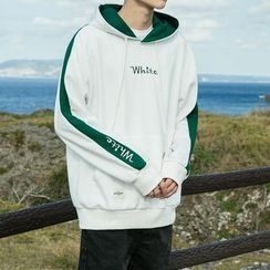 Arthur Look - Embroidered Letter Hoodie