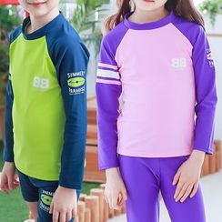 Kocotree - Kids Long-Sleeve 2-piece Swimsuit