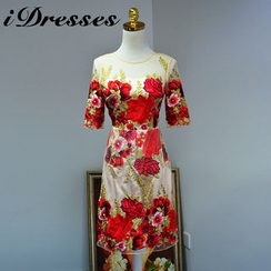 idresses - Floral Embroidered Cocktail Dress