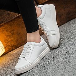 Pixie Pair - Low Top Faux Leather Sneakers