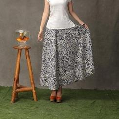 Floral Elegance - Floral Maxi Skirt
