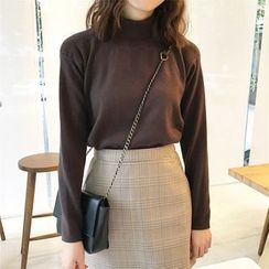 Dute - Turtleneck Knit Top