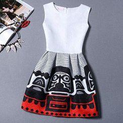 lilygirl - Sleeveless Print Dress
