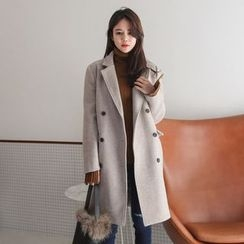 PPGIRL - Double-Breasted Wool Blend Coat