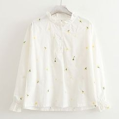 ninna nanna - Floral Embroidered Blouse