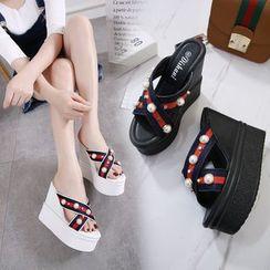 Anran - Wedge Platform Sandals