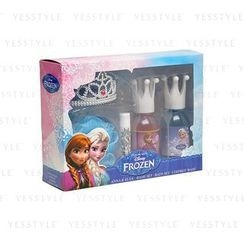 Disney - Frozen Anna & Elsa Bath Set: Shower Gel 100ml x 2 + Lipbalm 4.5g + Sponge + Haircomb