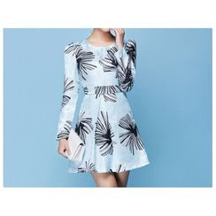 Strawberry Flower - Print A-Line Dress