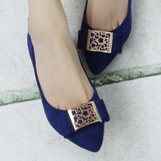 ZDJ Footwear - Metal-Accent Flats