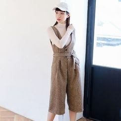AC - Wool Cropped Jumper Pants with Sash