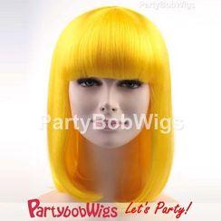 Party Wigs - PartyBobWigs - 派對BOB款中長假髮 - 黃色