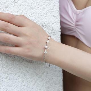 Clair Fashion - Faux-Pearl Rhinestone Bracelet