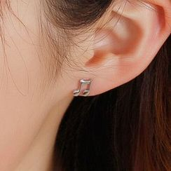 WOQIAO - Music Note Sterling Silver Earrings