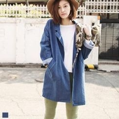 MAGJAY - Denim Raglan-Sleeve Trench Coat