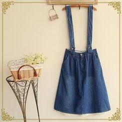 Fairyland - Washed Denim Jumper Skirt