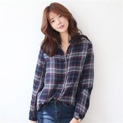 YOOM - Plaid Cotton Shirt