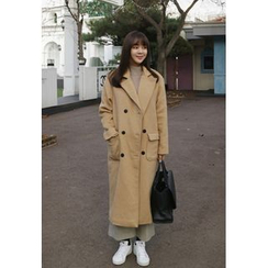 BBORAM - Flap-Pocket Double-Breasted Coat