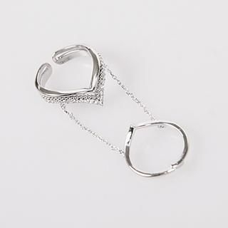 NANING9 - Chain Knuckle Ring
