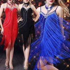 AIXI - 綴飾拉丁舞連衣裙
