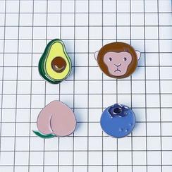 KIITOS - 猴子水果胸针