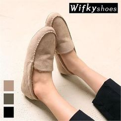 Wifky - Faux-Fur Lined Faux-Suede Loafers
