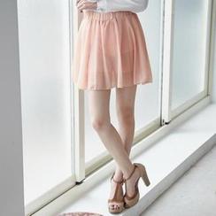 BAIMOMO - Chiffon Mini Skirt