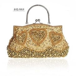 Bling Bag - Embroidered Clipframe Handbag