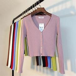 Coralie - 羅紋短款開衫