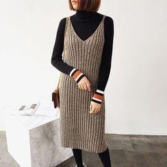 Mayflower - Rib Knit Pinafore Dress