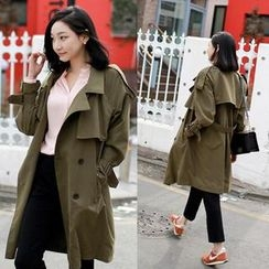 WITH IPUN - Flap-Front Trench Coat