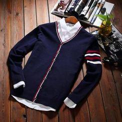 VILUNI - 撞色V領開衫