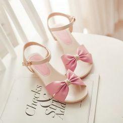 Kireina - 蝴蝶結裝飾船跟涼鞋
