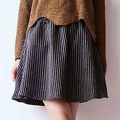 Meimei - 細條紋A字裙