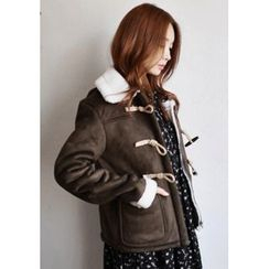 GOROKE - Toggle-Button Faux-Shearling Jacket