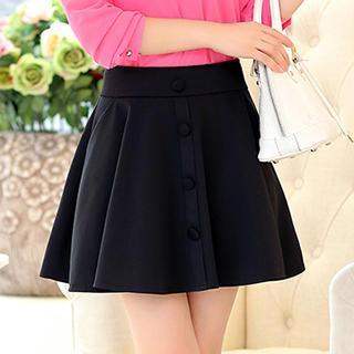 Romantica - Buttoned A-Line Skirt