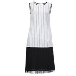 Sentubila - Striped Sleeveless Fringed Dress