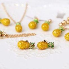 MISSTYLE - Pineapple Necklace/ Earrings/ Clip-on Earrings/ Hair Pin