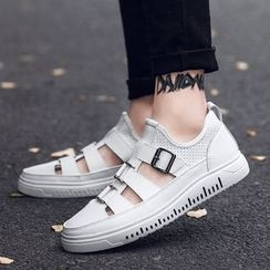 MARTUCCI - Cutout Buckled Sneakers