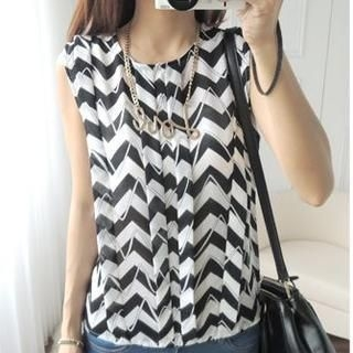 CYNTHIA - Chevron Tank Top