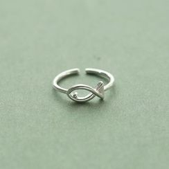 Love Generation - Fish Sterling Silver Open Ring