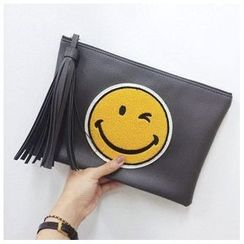 FROME - Smiley Face Tasseled Clutch