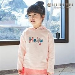 LILIPURRI - Girls Lettering Hooded Top