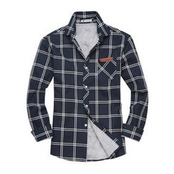DANGOON - Faux-Fur Lined Check Shirt