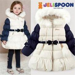 JELISPOON - Girls Faux-Fur Hooded Padded Coat