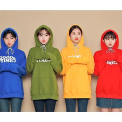 HOTPING - Lettering Hooded Top