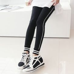 DANI LOVE - Contrast-Trim Jogger Leggings